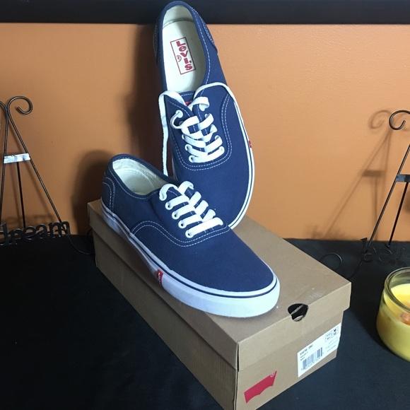 Navy Blue Mens Levi Tennis Shoes